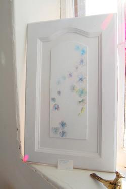 Door with Hydrangea