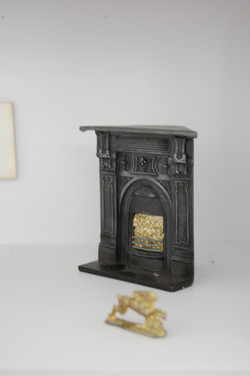 Fireplace with Golden Hare-Horse Hou