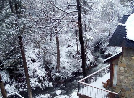 Arroyo nevado | Vista desde el dormitorio 🏔🌲