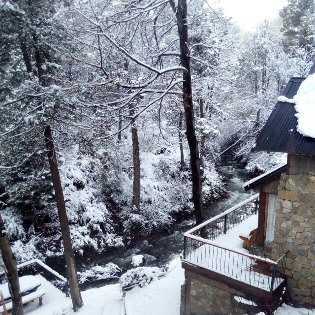 Arroyo nevado, vista desde el dormitorio.