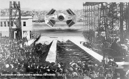 Launch of Darth Vader Ship