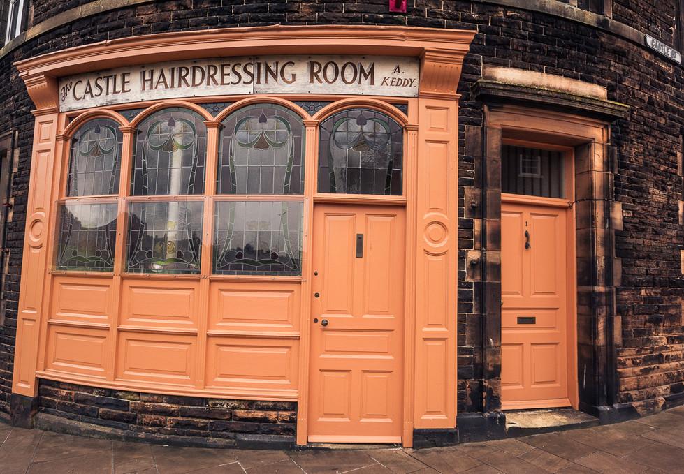 Gentlemans barbers shop in Castle Street, Carlisle