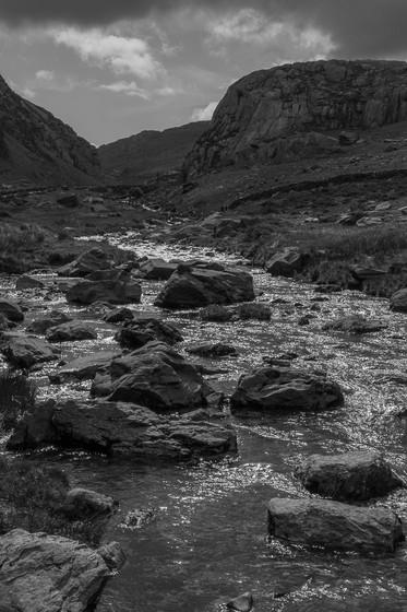 Shimmering Stream at Llanberis