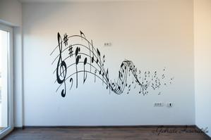 Portativ, pictura pe perete