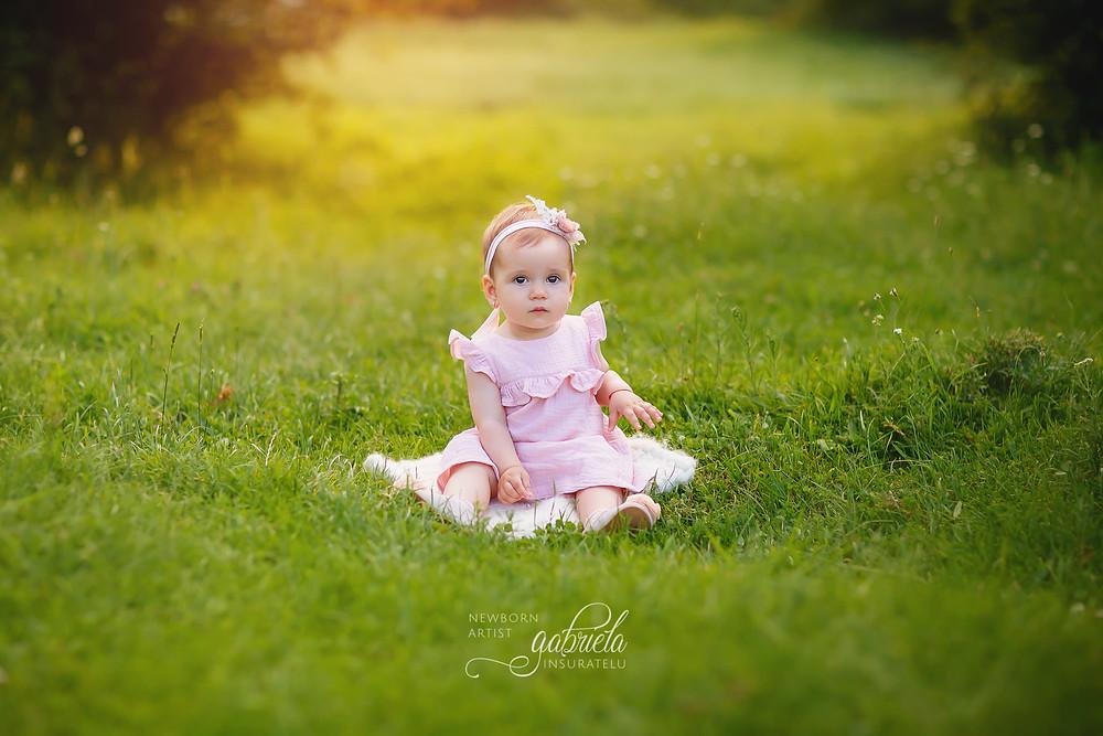 Ședință foto bebeluși în natură.