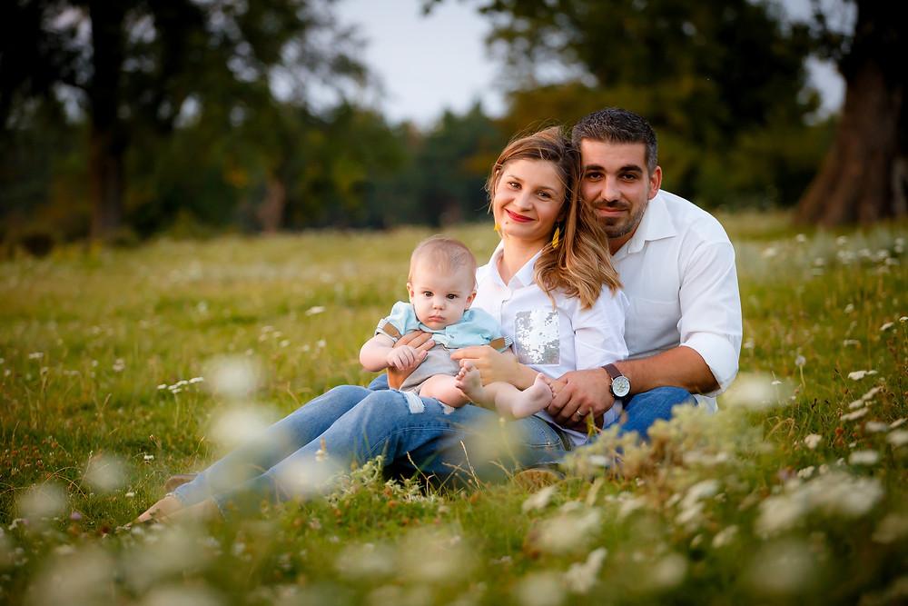 Ședință foto bebeluș în natură în Iași