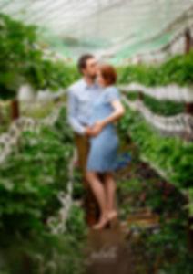 Ședință foto de maternitate în natură