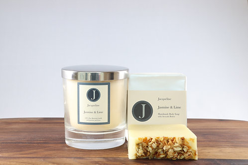 Jasmine & Lime Soap & Candle Gift Set