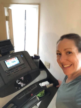 Allison hitting her Treadmill before ABS