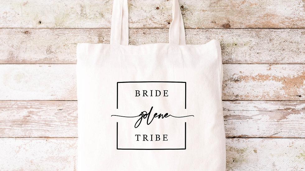 Pure Cotton Bride Tribe Tote bag
