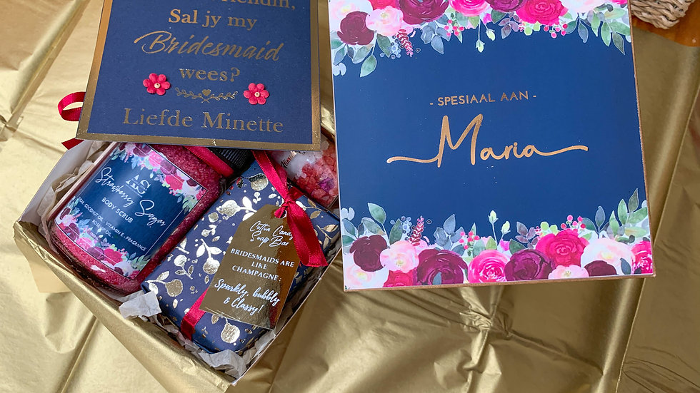 Gift Boxes - Burgundy and Navy (LARGE OR SMALL)