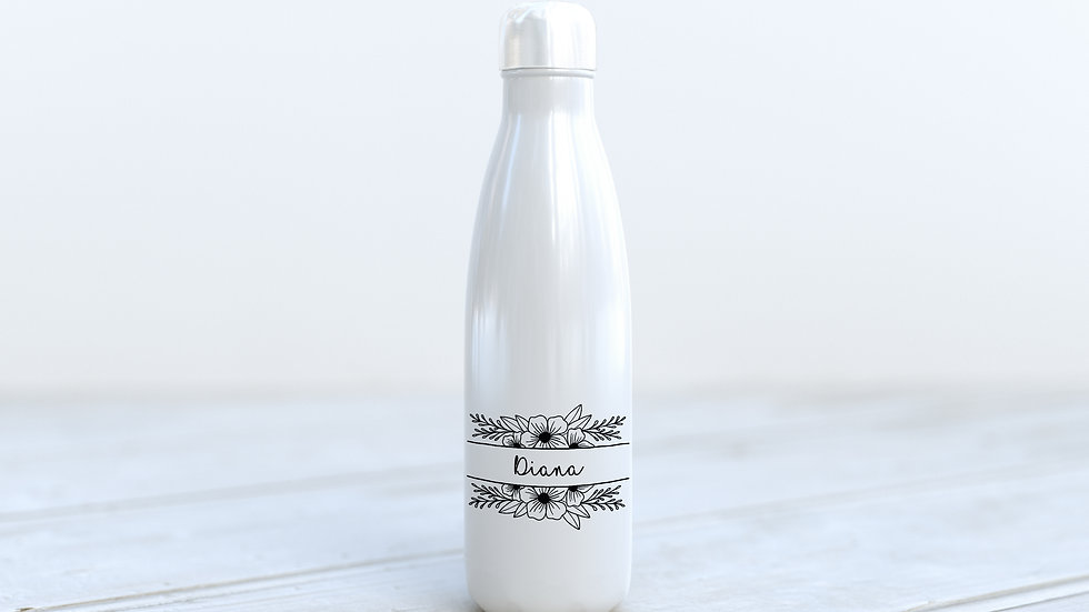 600ml Aluminium bottle Floral
