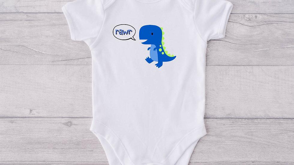 Dino Newborn Baby Vest