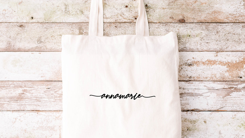 Pure Cotton with name Tote bag