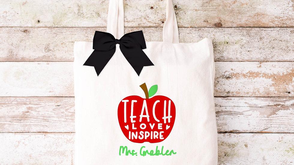 Pure Cotton Teacher Tote bag