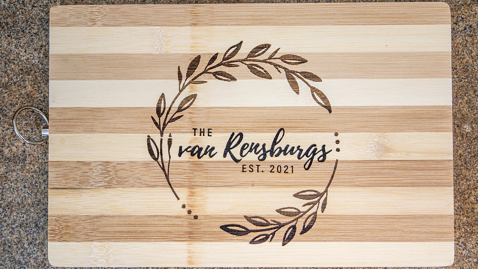Bamboo Chopping board (great Wedding Gift)