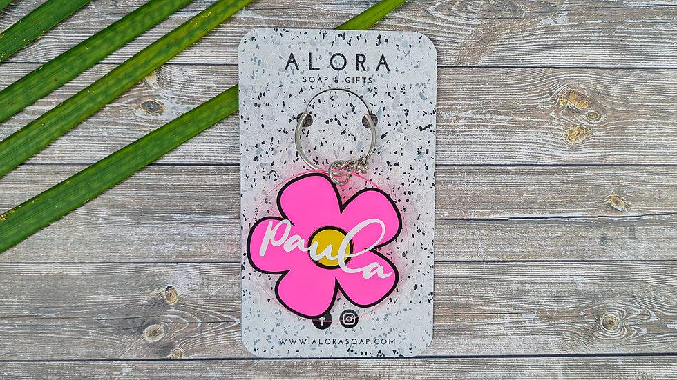 Pink Daisy Key chain