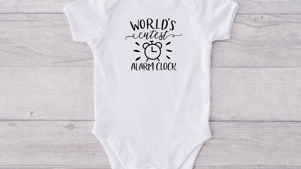 Alarm clock Newborn Baby Vest
