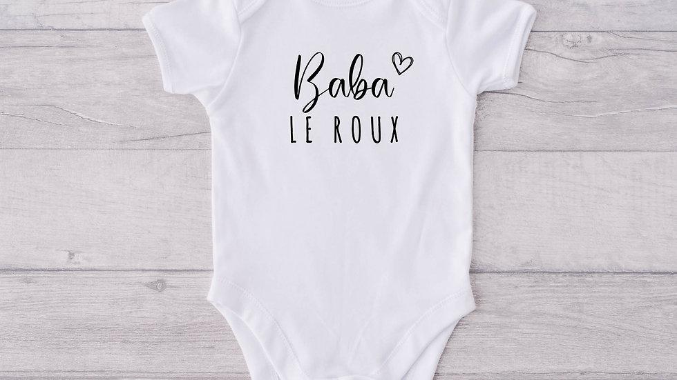Family name Newborn Baby Vest