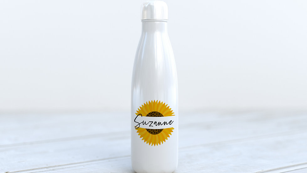 600ml Aluminium bottle Sunflower