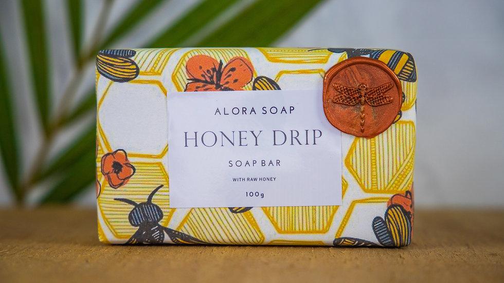 Honey Drip Glycerine Soap bar 100g