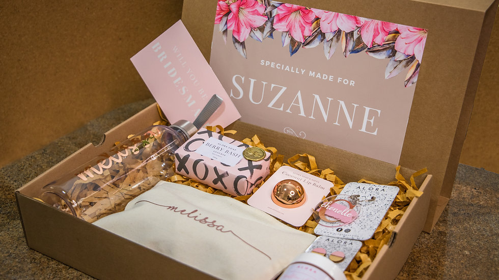 Large Pre-packed gift box Rose gold