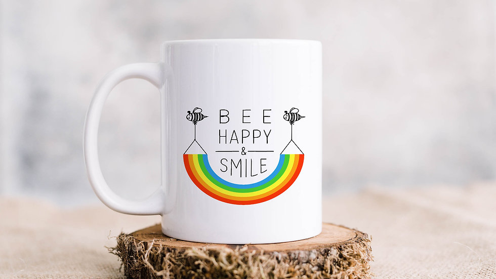 Bee Happy Coffee mug