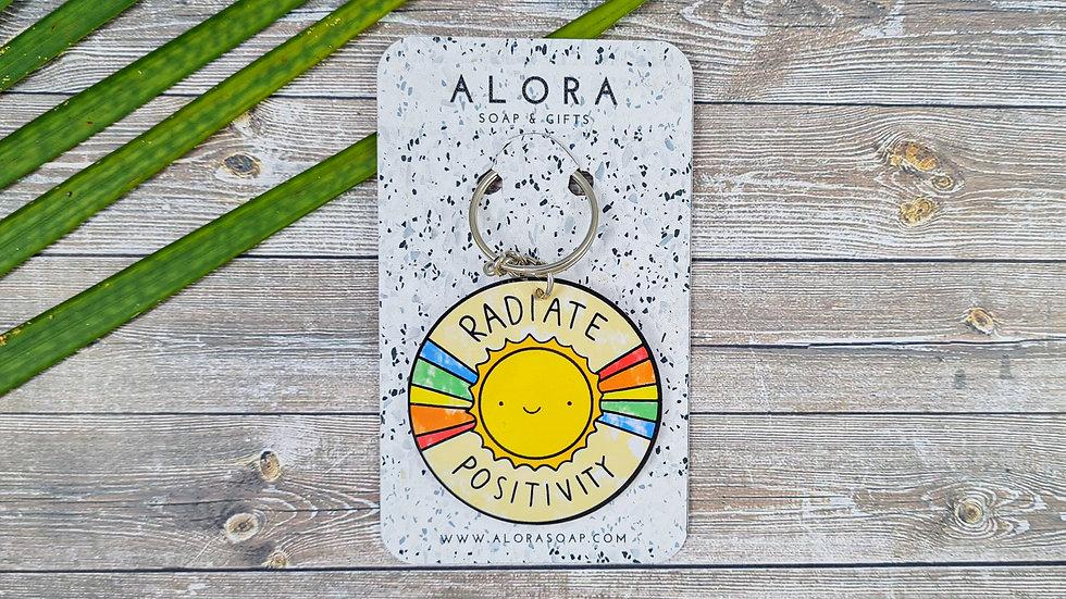 Sun Positivity Key chain