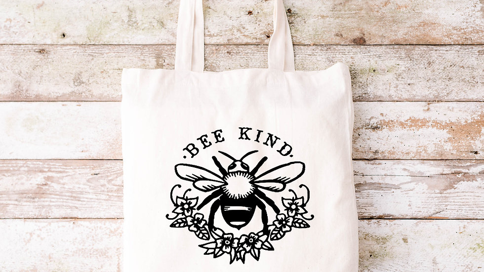 Pure Cotton Bee kind Tote bag