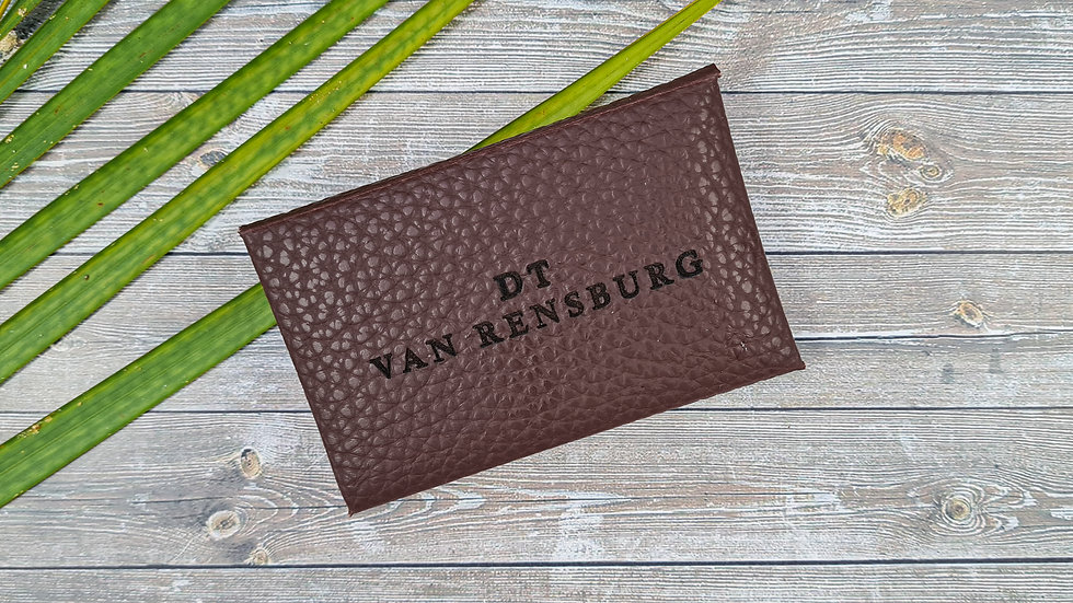 Faux Leather Card Pouch