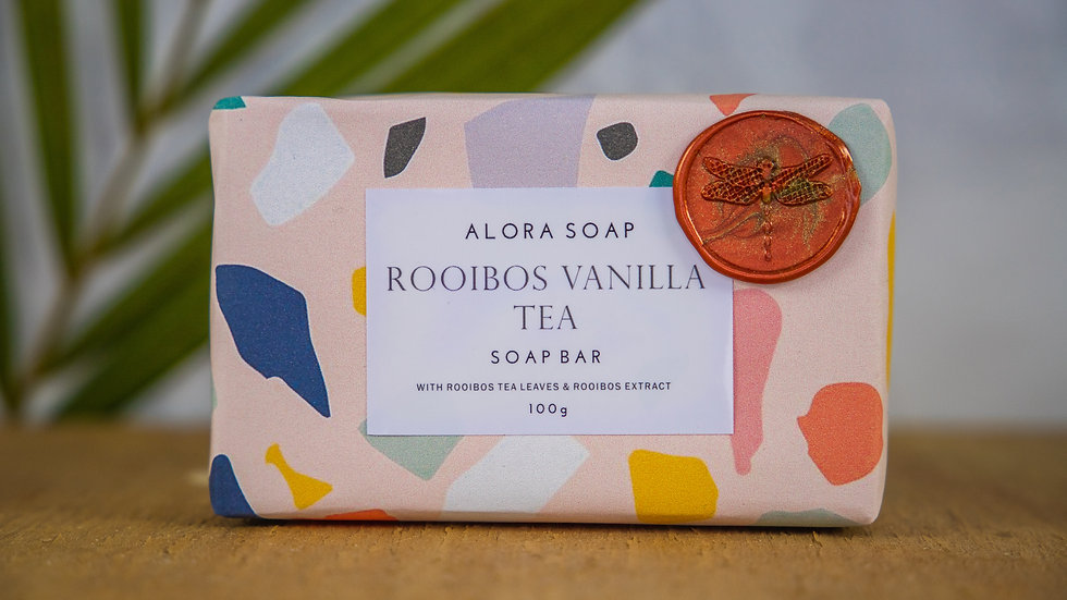 Rooibos Vanilla Tea Glycerine Soap bar 100g