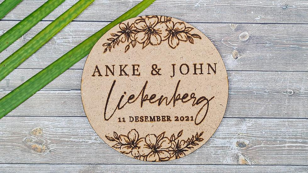 Weddings Cardboard Coasters