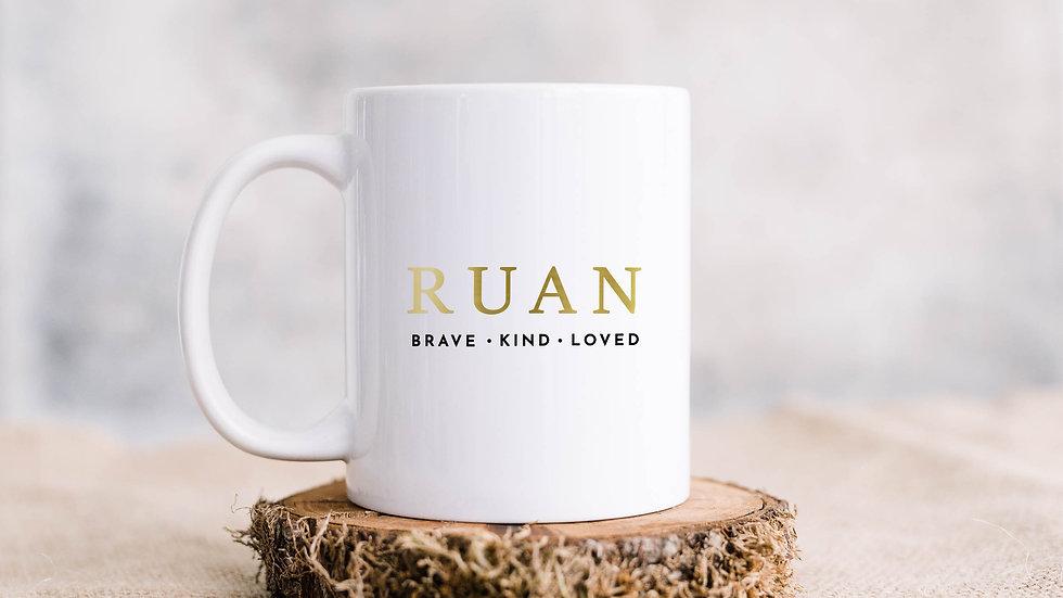 Men - Brave, kind, loved Coffee mug