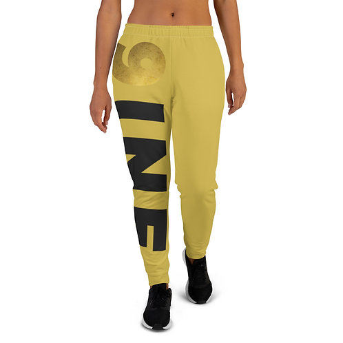 Women's 9INE COLLECTION Joggers (Gold)