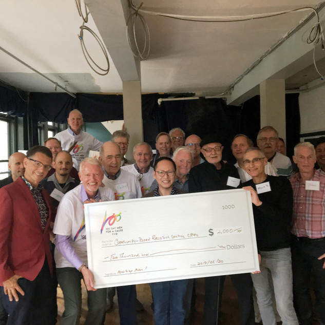 100 Gay Men 06 20 Cheque Present Group.j