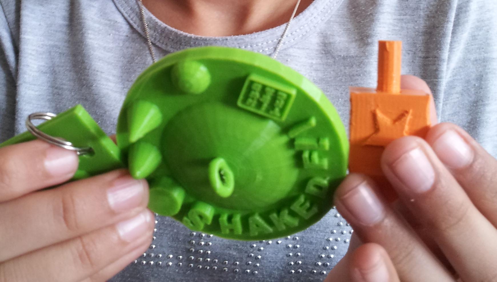 חללית וסביבון בהדפסה תלת מימדית