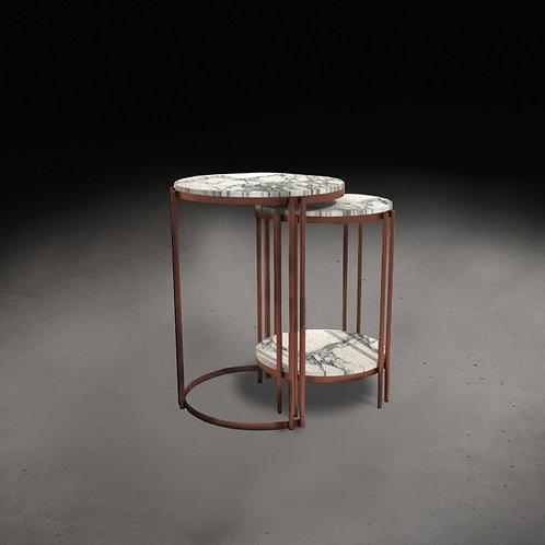 Italian Marble Nesting Side Table Set