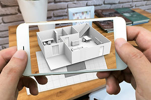 Augmented reality marketing concept for