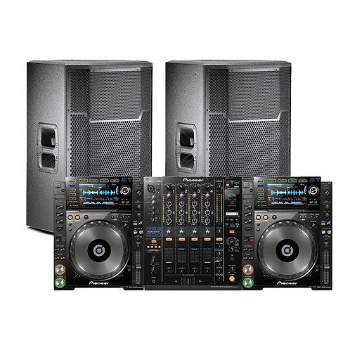 2 X CDJ 2000 NEXUS 1 X DJM 900 NEXUS, 2 X JBL PRX 712's PACKAGE