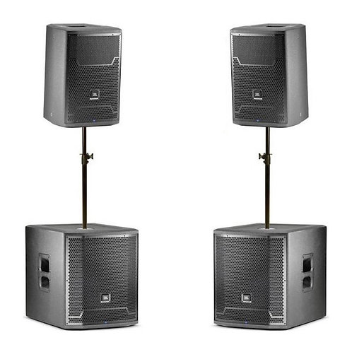 PA System with Sub Woofers