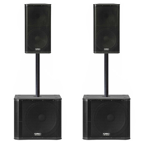 QSC Subwoofers & Speaker Package