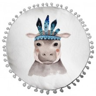 Albert hippo cushion