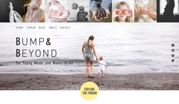 Lifestyle website templates – Young Moms Forum