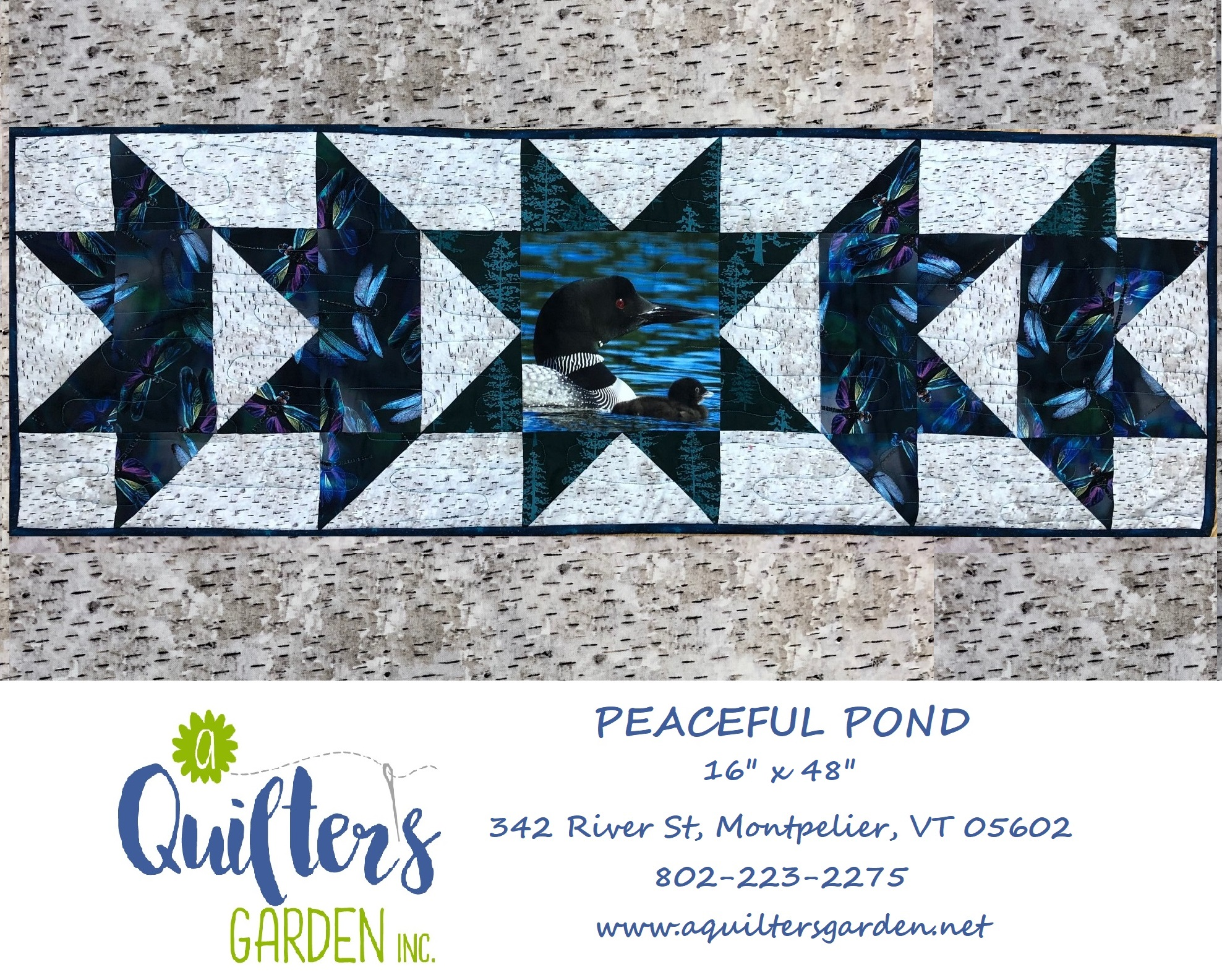 Peaceful Pond-Quilter's Garden