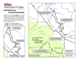 Cane River Plantation Ride Map