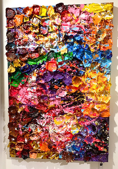 Abstract  Flowers By Nitra Pièce Unique -  80 x 120 cm