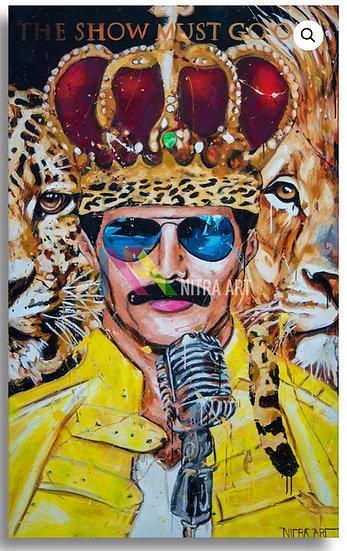 Freddy Mercury & his cats By Nitra-Art - Print on Plexi (/25) -