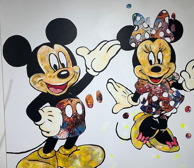 Mickey & Minnie By Nitra 120 x 120 cm