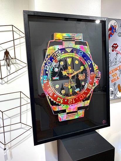 Sold! !  Pepsi Rolex - 64 x 89 cm