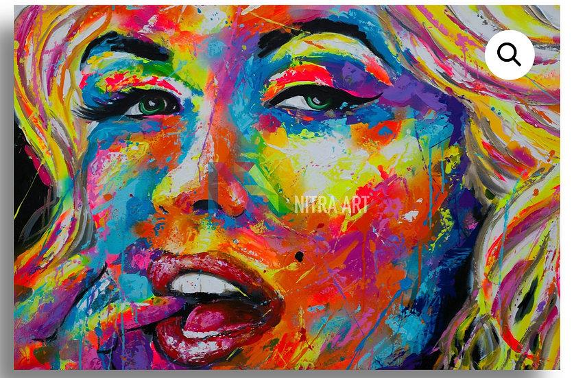 Sex appeal 'Marylin Monroe' By Nitra-Art - Print on plexi (/25) - 110 x 70 cm